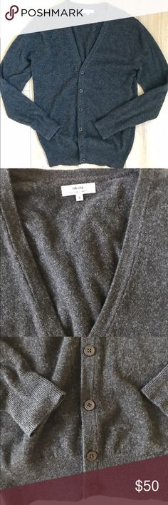 Grana 100 % Cashmere cardigan sweater Grana 100 % Cashmere cardigan sweater. Grana like Everlane makes really nice quality cashmere and this item is very soft.  Color: charcoal gray  Labeled Size: this is Men's size Smsll. I purchased men sizing for a more slouchy fit. I usually wear XS or Small in women's.   Measurements: 25.5 in length pit to pit 16 inches  Condition: worn once - since purchased, in closet and never worn again.                                *Price firm! A low price for…