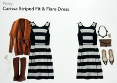 Stitch Fix Pixley Carissa Striped Fit & Flare Dress like this dress a lot. Still would like more color for spring/summer but the cut is great.