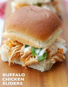 These Instant Pot Buffalo Chicken Sliders are perfect for game day! Slightly spicy, cheesy, and so easy, you will love this delicious appetizer recipe!