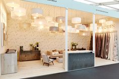 Luna and Soho pendants, finished in beautiful Harlequin voiles - Decorex 2014 - Copper & Silk Interior, Lampshades, Ceiling Lights, Lighting Design, Bespoke Lighting, Light Decorations, Interior Designers, Room Divider, Light Project