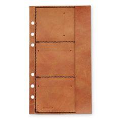 KAKURA/バイブルカードポケット アンティークブラウン 3675yen 自分好みでシステム手帳に追加するカードポケット
