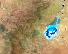 Parque nacional en Australia desde el espacio