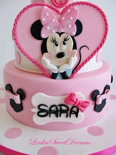 Minnie Mouse cake Bolo Minnie, Mickey Mouse Cake, Minnie Mouse Party, Cupcake Cakes, Cupcakes, Party Cakes, Sweet Dreams, Martini, Sweets