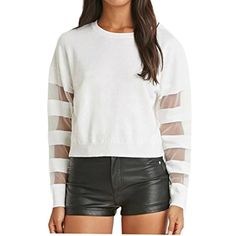 ZSN Womens Autumn Fashion Solid Long Sleeve Lace Knit Pullover Sweater -- Check out this great product. (This is an affiliate link) #Sweaters