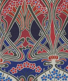 Red Ianthe Print Linen Union..Liberty of London did this same design in cotton, years ago...I have some of the fabric.