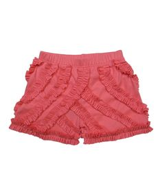 Look at this Salmon Rose Ruffle Shorts - Toddler & Girls on #zulily today!
