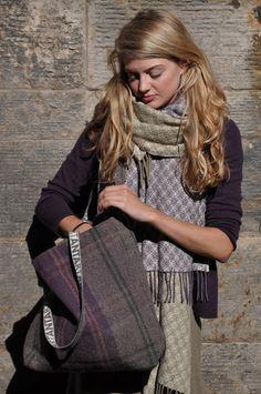 Saltire Scarves designed by Yvonne Mackay and Brodie Utility bag by Anta, Scotland