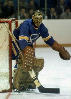 Jacques Plante | St. Louis Blues | NHL | Hockey Hockey Goalie, Hockey Players, St Louis Blues Goalies, Funny Hockey Memes, Blues Nhl, American Football League, Association Football, Goalie Mask, Good Old Times