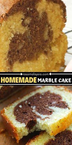 Marble Cake Recipe Moist, Marble Cake Recipes, Pound Cake Recipes, Easy Cake Recipes, Baking Recipes, Desserts Ostern, Köstliche Desserts, Dessert Recipes, Easter Recipes