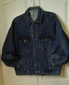 TYCA Denim Jacket Emboossed American Original Western Cowboy Horse Mens size M