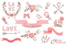 This Beautiful Love collection set comes with 16 graphic elements. This clipart is ideal for creating your Wedding invitations, Valentine's Day cards, graphic Valentine Images, Valentine Crafts, Valentine Day Cards, Valentines, Doodle Patterns, Print Patterns, Happy Hearts Day, Beautiful Handwriting, Craft Items