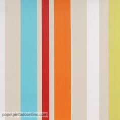 papel pintado funny walls 257 5619 de rayas verticales en diferentes grosores y colores