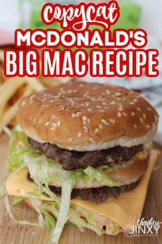 With this Copycat McDonald's Big Mac recipe, you can create the famous Big Mac AND the special sauce right at home! It is easy to make and delicious! Big Mac Sauce Recipe Copycat, Mac Recipe, Copycat Recipes, Sauce Recipes, Burger King Sauce Recipe, Big Mac Special Sauce Recipe, Fries Recipe, Hamburger Recipes, Beef Recipes