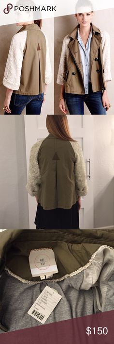 Anthropologie Military Jacket Hei Hei Shimmer-Sleeve Anorak Army Jacket from Anthropologie. Brand new with tags and in perfect condition. Price is firm❣ Anthropologie Jackets & Coats