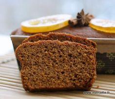 pain d'épices (vegan avec graines de lin moulues pour oeuf, margarine, sirop et lait végétal)