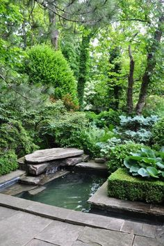 Amazing Backyard garden - 65 Amazing Backyard Ponds and Water Garden Landscaping Ideas. Ponds Backyard, Backyard Landscaping, Landscaping Ideas, Garden Ponds, Garden Pond Design, Landscape Design, Lush Garden, Dream Garden, Garden Bar