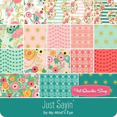 Just Sayin' Fat Quarter Bundle My Mind's Eye for Riley Blake Designs - Fat Quarter Bundles | Fat Quarter Shop