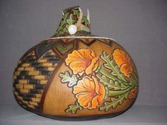 Heather Kinkaid - Grand Master's award at the Arizona Gourd Society Competition at the Wuertz Gourd Festival.