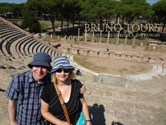 A lovely couple with me in Ostia!