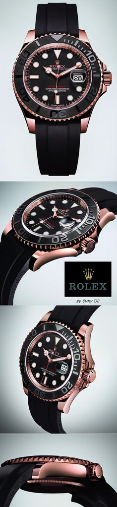 Emmy DE * Rolex Oyster Perpetual Yacht-Master (New Black & 18 CT Everose Gold Version)
