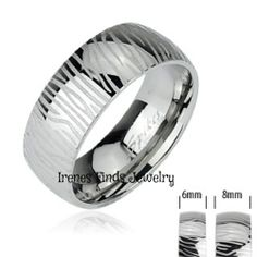 '316L Stainless Steel Zebra Pattern Ring ' is going up for auction at  4pm Thu, Jan 2 with a starting bid of $6.