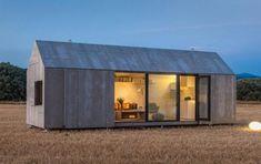 Ultrakompakt designhus i beton og træ kan flyttes efter behag