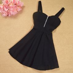 Printed zipper fashion princess dress