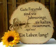 Gastgeschenke - Holzbaumscheibe Freunde Bester Freund Guter Freund - ein Designerstück von Atelier-Maeurer bei DaWanda