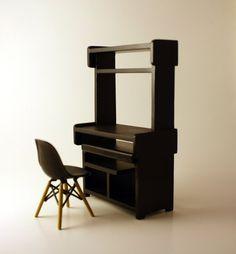 Miniature Computer Desk in 112 Scale Modern by AmazingMiniatures, $12.50