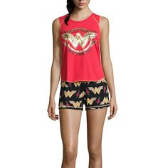 ed8c6e3229 DC Comics Wonder Woman Short Pajama Set - JCPenney. Pajamas WomenWomen s  PajamasPjsStar ...