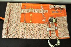 Travel Jewelry Roll  pinned from DesignsByKateT on etsy.  designsbykatet@gmail.com
