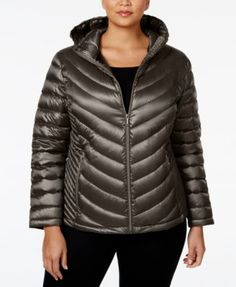 CALVIN KLEIN Calvin Klein Plus Size Packable Down Hooded Puffer Coat, Only At Macy'S. #calvinklein #cloth # coats