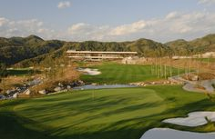 The Design and Neon Lights at Korea's Whistling Rock Country Club Neon Lighting, Golf Tips, So Little Time, The Good Place, Temple, Golf Courses, Destinations, Around The Worlds, Club