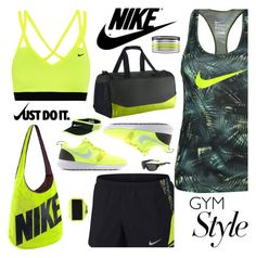 """Nike Gym Style"" by majezy ❤ liked on Polyvore featuring NIKE"