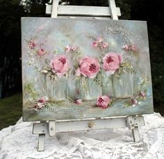 Glass Vases and Flowers http://www.gailmccormack.com/item_2164/Original-Painting-on-Canvas--Glass-Vases-and-Flowers--Postage-is-included-Australia-Wide.htm