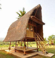 Hut House, Tiny House Village, Tiny House Cabin, Bamboo Building, Building A House, Cabana, Casa Wabi, Bamboo Shop, Forest Cafe