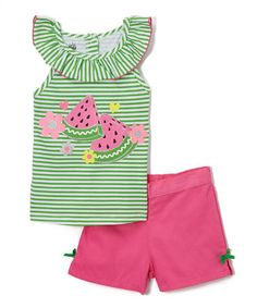 Look what I found on #zulily! Watermelon Tank & Pink Shorts - Infant, Toddler & Girls #zulilyfinds