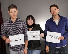 Misha Collins and Jensen Ackles Photo op (Click through for story)