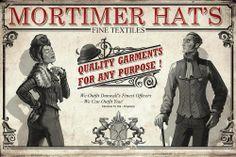 Poster/Advertisement - Mortimer Hat's Fine Textiles