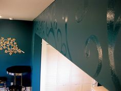 gloss paint over flat paint; flair. love it!