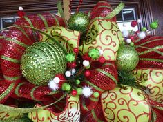 WHIMSICAL CHRISTMAS WREATH 30 by decoglitz on Etsy