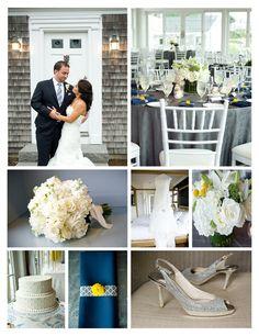 Grey, Navy & Yellow Wedding
