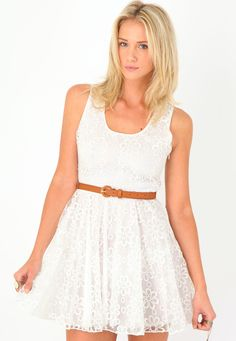 Enerisse Embroidered Lace Dress