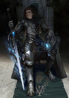 "andro-womeninarmor: ""Death Knight by Bramasta Aji Found here :: Armor for you """