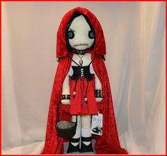 OOAK Little Red Riding Hood Inspired Hand Stitched by TatteredRags, $175.00