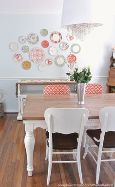 Dining Room Chairs Makeover with Annie Sloan Chalk Paint - One Project Closer