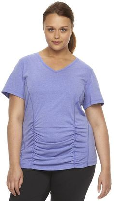 Women's Tek Gear® DRY TEK Shirred V-Neck Tee >>> Check out the image by visiting the link.