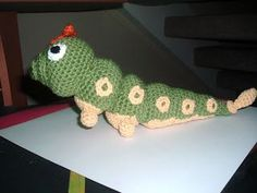 Pokemon Caterpie plushie (with free crochet pattern)