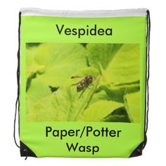 Shop Vespidea paper/Potter wasp draw-string bag created by Insectopia.