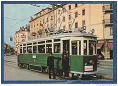 TPG Transports Publics De Genève - Automotrice Be 4/4 N° 67 De 1934 à La Place Du Cirque - Tramway - Tramways  Switzerland  #railway #postcard #train #bahn #ferrovia #ansichtskarten #cartoline #cartepostale #locomotive #lokomotive